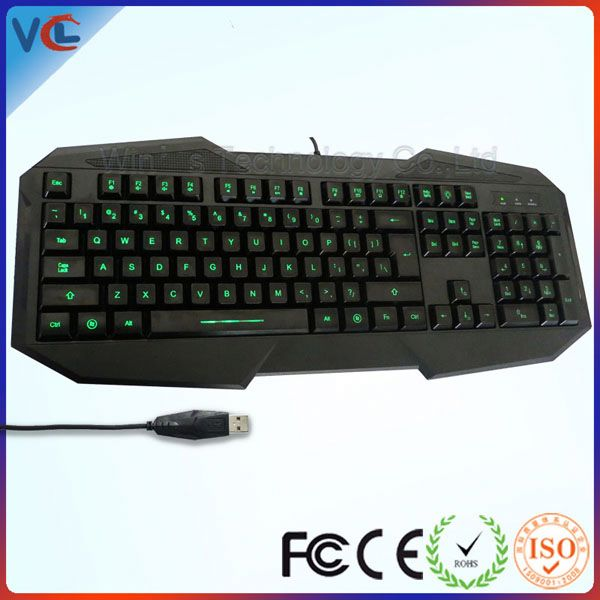 Latest Multimedia Waterproof Changeable Color LED Light Ergonomic standing china manufacturer computer keyboard