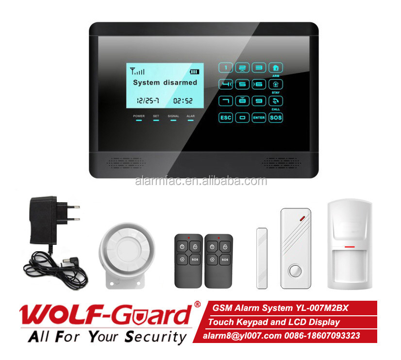 Easy to Install Easy Installation Gsm Wireless Home Burglar Security Alarm