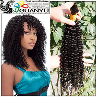 Wholesale afro kinky curly human hair bulk,2016 new arrival kinky curly hair weft no tangle no shed