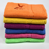 wholesalers solid color 100% combed organic cotton 16s ringspun bath towel with embroidery designs