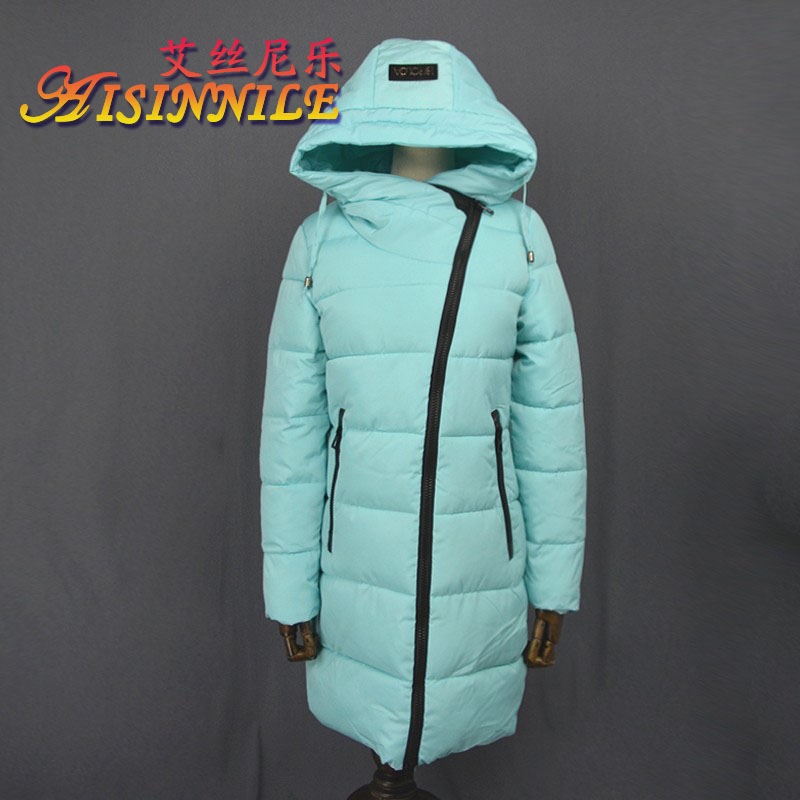 2016 Fashion High Quality Women's Full length Winter Solid Down Coat Padded Cotton Jacket