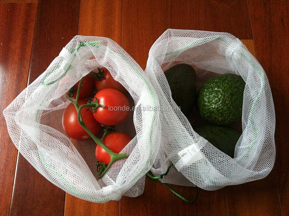 Transparent reusable small gift item mesh bag for vegetables