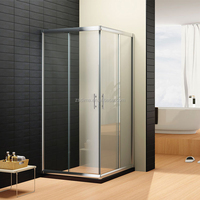 European Popular Square Simple Glass Two Sliding Door Shower Cabin