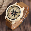 Cheap wood watch with leather watch strap,women wrist watch