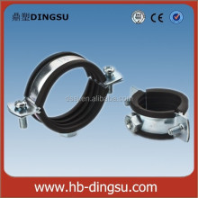 HIGH QUALITY SS316 RUBBER SLEEVE HIGH PRESSURE HANGING PIPE CLAMP WITH EPDM RUBBER LINING