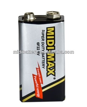 Super high quality 6F22/9v dry battery