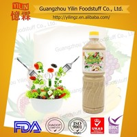 Heath food Japanese style 1L bottle packed Sesame Salad Dressing with OEM servise