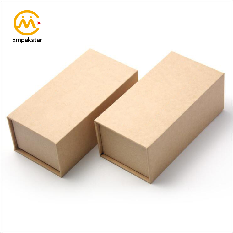 Factory custom recycle cardboard magnetic Kraft paper watch ring jewelry gift boxes