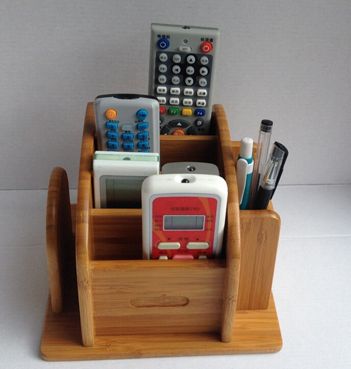 Wooden desk organizers stationery product for home and office use