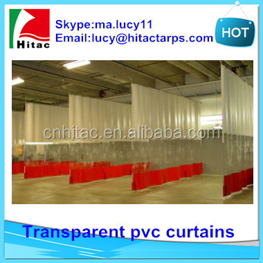 waterproof tansparent pvc curtains for washing car