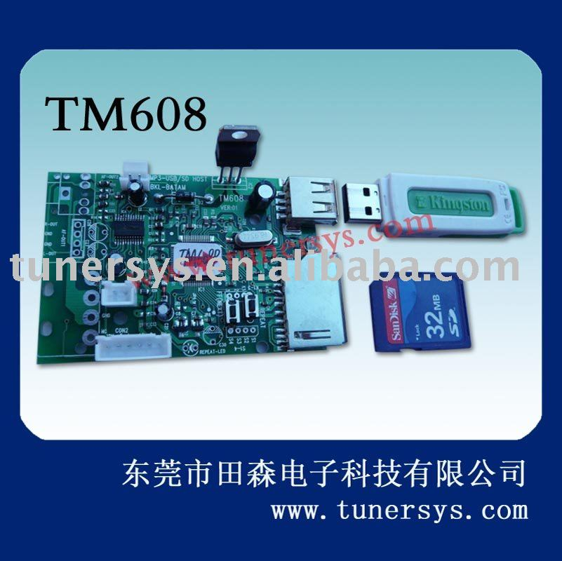 TM608 ODM with Amplifier mp3 decoder