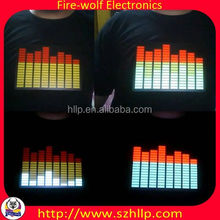 Korea EL Light up Equalizer T shirt China manufacturer