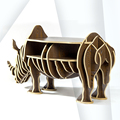 European drawer rack Home Furnishing rhino other creative decorative wooden crafts ornaments Home Furnishing bookshelf