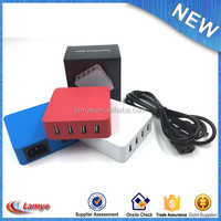 Goods of every description are available restaurant table mobile phone charger