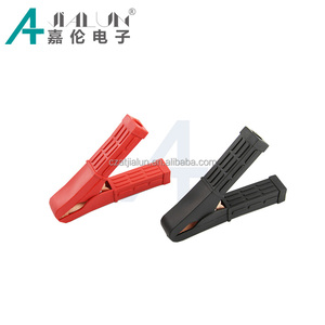 JIALUN Black and Red 100 Amp 106mm Copper Crocodile Clamp Car Battery Clips Insulated Alligator Clips
