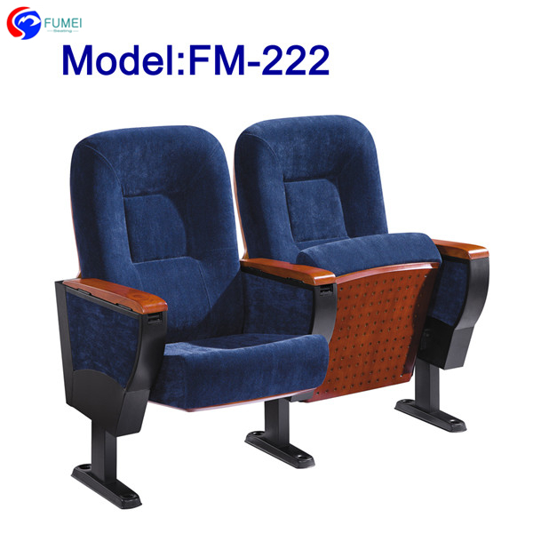 FM-222 Fabric theatre chair with writing pad