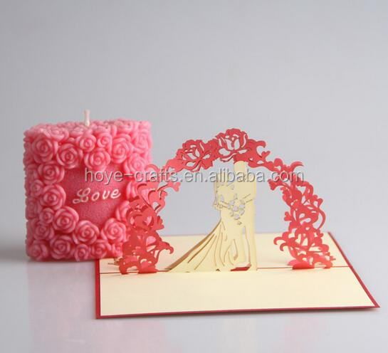 beautiful Wedding present 3D greeting card