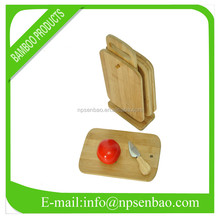 Wholesale Kitchen Bamboo Chopping Block with Knife