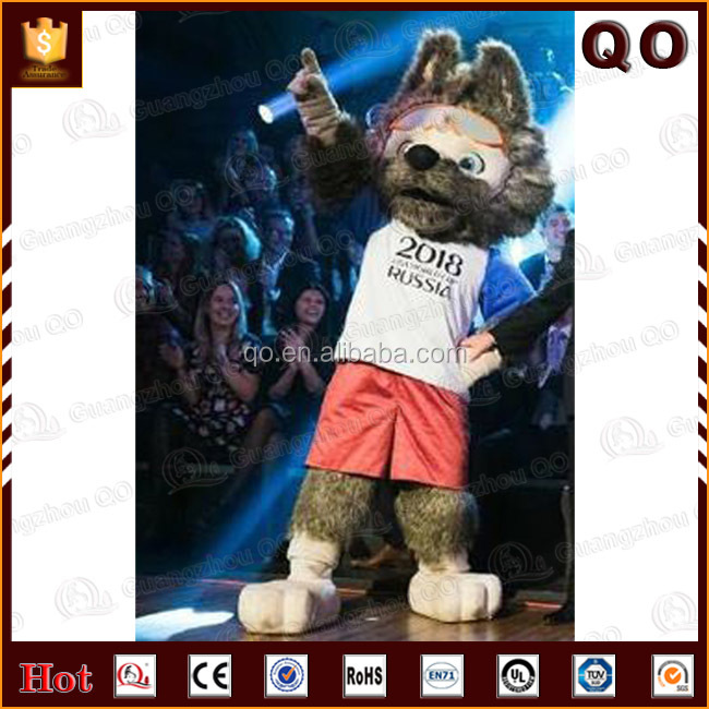 High quality customized Zabivaka wolf mascot costume for 2018 World Cup