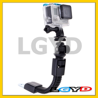 Sports 1/4 inch Adjustable Bending Flexible camera Mount for Go Pro HE RO4 /3+ /3 /2 /1