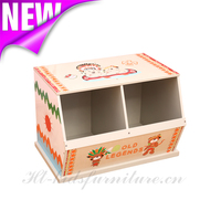 Indian Bear Wooden Kids Storage, Easy Assembly Kids Wooden Furnitures, Children Toys Storage Cabinets