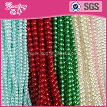 Beaded jewelry colorful abs pearl bead chains plastic bead strand