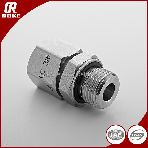 Air Compressor Union Hydraulic Pipe Fittings Stainless Steel