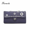 Fish scale grain pu leather woman evening bag