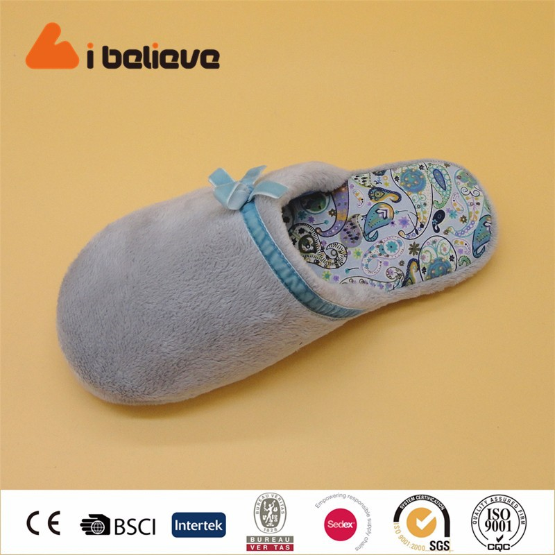 Spring abstract pattern print insole indoor slipper cloth shoes