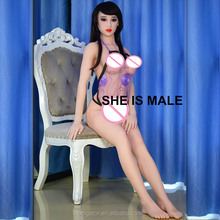 Full Silicone TPE lifelike real shemale sex doll ladyboy dolls for women masturbation gay men