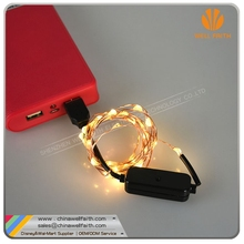 USB adapter operated steady-flash string lights home decoration lights
