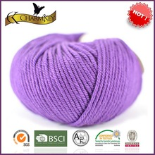 2014 hot selling 1nm tops dyed wool yarn for knitting