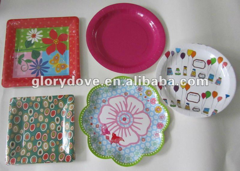 VARIOUS SHAPES OF PAPER PLATES JAPAN MARKET PLATES