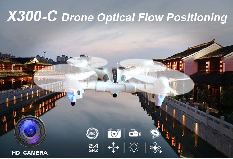 XK X300 - C Quadcopter SHIPPED FROM OVERSEA WAREHOUSE WIFI Optical Flow Positioning RC Drone With 720P Wide Angle HD Camera