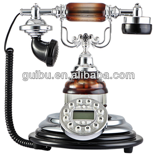 crystal home decorative items modern style crystal caller id telephone
