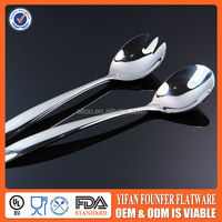 2014 new design stainless steel tea spoon korean fork and spoon set