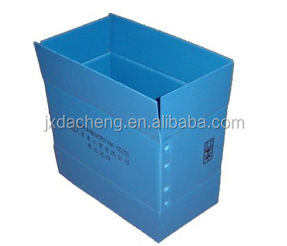 Coroplast sheet plastic foldable turnover box