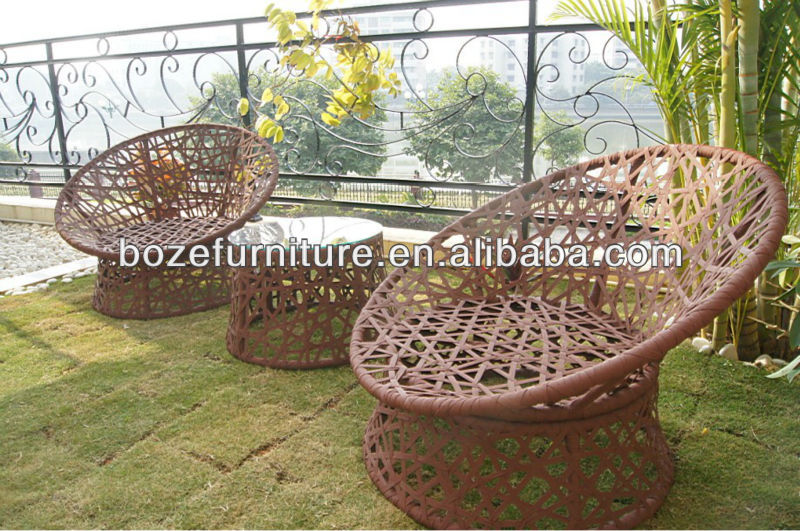 new style!! KD structure polyester tape or wicker outdoor furniture/ meubles de jardin