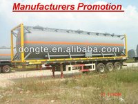 DTA truck 3 Axle 20/30 /40/45ft container semi trailer ,flat bed semi trailer container chassis factory sale
