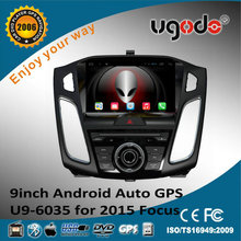 ugode 9inch Android 2015 focus car audio gps navigation system wifi 3g mirror link