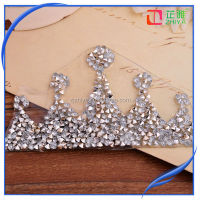2015 New design crown iron on rhinestone transfer designs