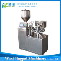 Competitive price KPLG-40 semi automatic aluminum tube filling sealing machine for ointment toothpaste shoe polish etc