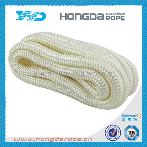 16 strand nylon double braided anchor rope mooring rope