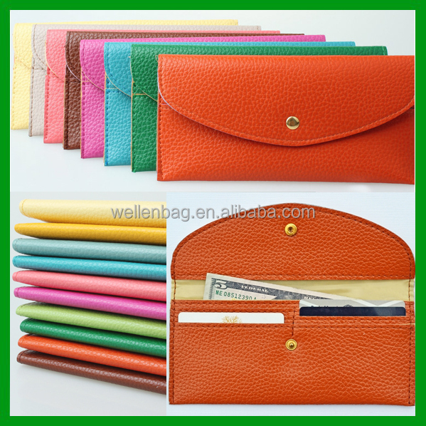 Multi Coloured Stock China Wholesale PU Leather Women Cheap Wallet