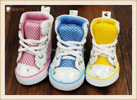 Wholesale casual pet Dog shoes tennis dog boots for summer