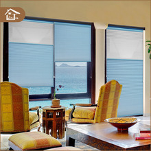 Custom made horizontal pattern honeycomb fabrics roll up blinds windows