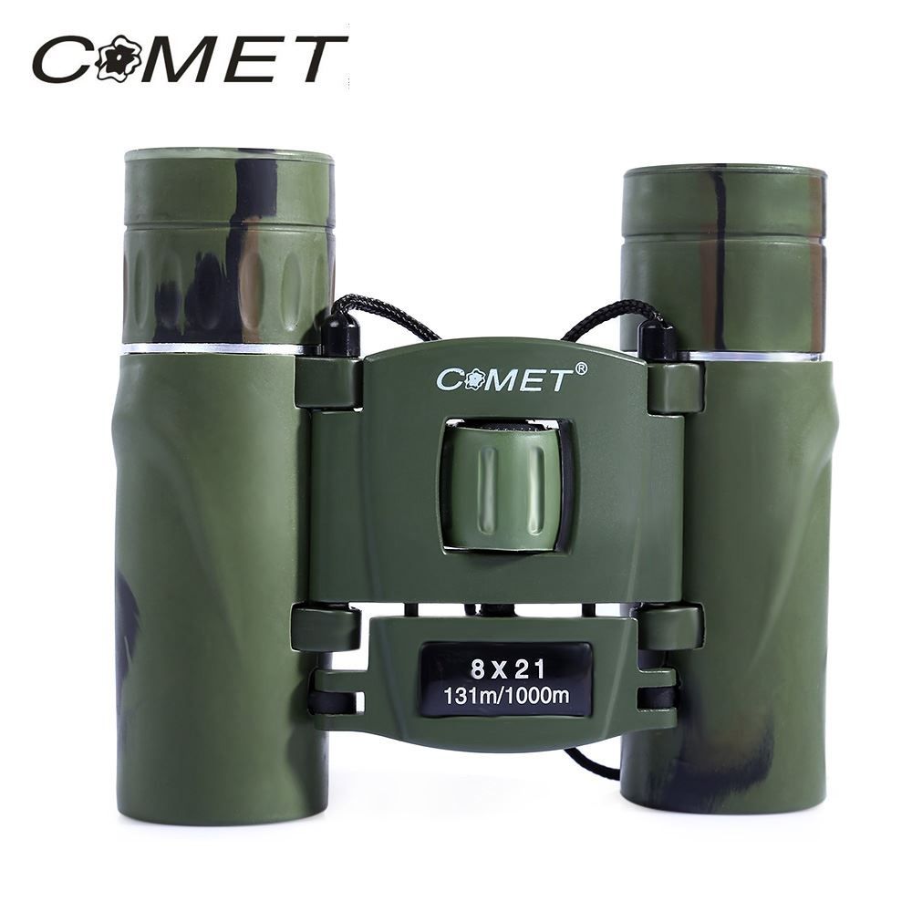 Comet 8 x 21 Zoom Optical Military Binoculars 8X Magnification 131/1000m Field of View Telescope Telescopio