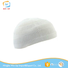Winup White Cheap Knit Kufi Skull Muslim Prayer Cap