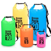 Outdoor 10L 20L 500D pvc tarpaulin waterproof backpack travel bag customed dry bag