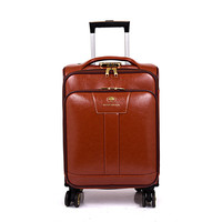 China wholesale travel house buisness pu leather trolley luggage bag